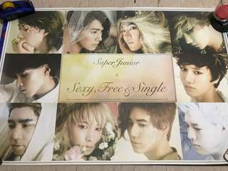 Super Junior sexy,free and single 海報 poster