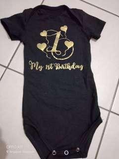 Baby 1st birthday romper
