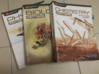 Phy Chem Bio GCE triple sci olevel textbooks 2nd edition