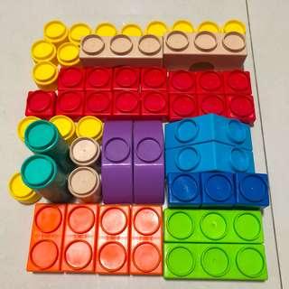 Fisher Price plastic toy blocks