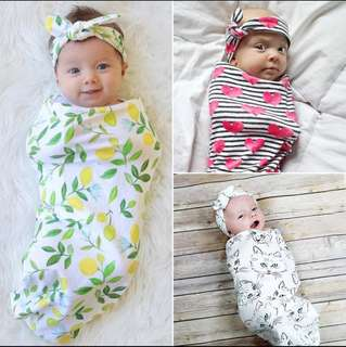 Swaddle headbands set for baby / newborn
