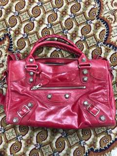 Authentic Balenciaga Giant 21 Red City