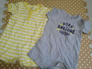 2pcs. carters rompers