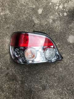 2005, 2006, 2007 Subaru Impreza sedan TS rear left tail lamp with bulb holders and bulbs