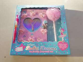Smiggle lockable journal set ballet dreams Rm59 New