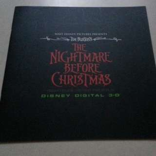 The Nightmare Before Christmas 怪誕城之夜 電影場刊