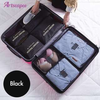Luggage Travel Organiser Black or Grey