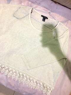 FOREVER 21 Lace Detailed Top
