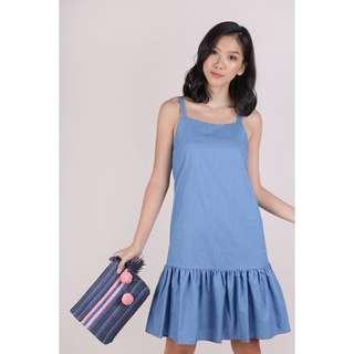 Vivi Drop Hem Dress (Light Blue)