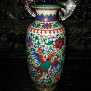 清乾隆洋彩官窑瓶(供赏)86218574