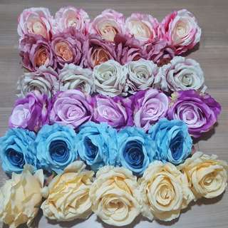 Lot of 30 Pieces Rose Heads (5 colours)