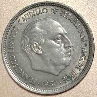 1957年西班牙硬幣