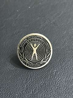 National Physical Fitness Award Secondary NAPFA Collar Pin Badge