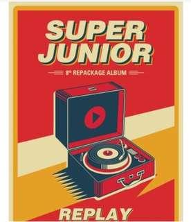 預訂⭐️ Super Junior 8輯後續 Replay 專輯 全新未拆