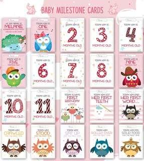 Baby Milestone Card