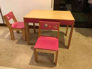 Children Desk & Chairs