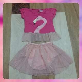 Preloved Flamingo Tutu Dress