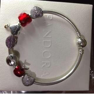 Authentic Pandora Bangle with Charm
