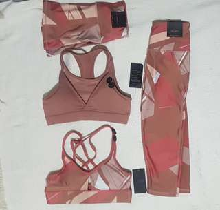 New Cotton On Nude Active Wear Blush Pink Terno