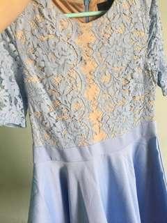 <Doublewoot>  Blue Lace Dress