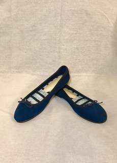 [MADE IN JAPAN]Navy Blue Leather ballerina flat