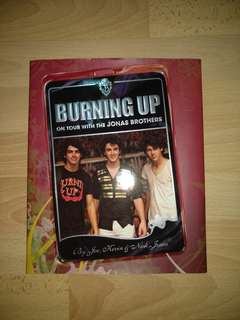 Hardcover Book: Burning Up : On Tour with the Jonas Brothers