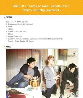 [DVD] JYJ - Come on over, Director's cut