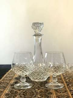RCR Crystal whiskey Glasses & Decanter