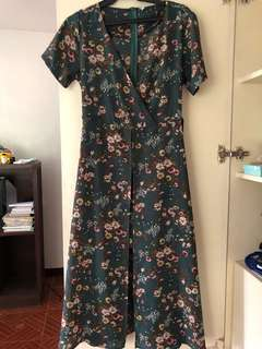 Long dress(floral green)