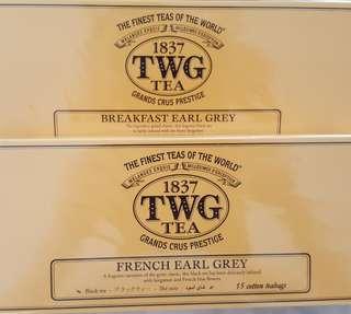 TWG Tea -- Breakfast Earl Grey & French Earl Grey