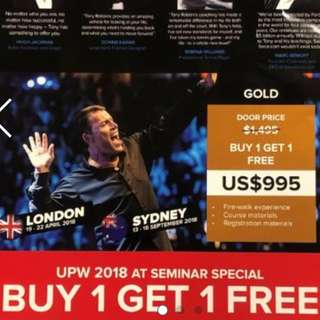 Tony Robbins Live in Sydney from 13-16 Sept 2018!