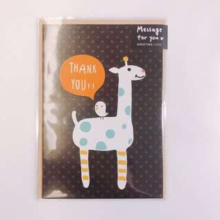MADE IN TAIWAN 台灣制 thank you card 包郵
