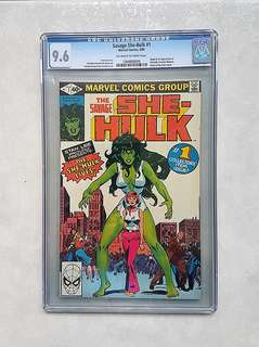 Marvel Comics She-Huk 1 CGC 9.6 Origin and First Appearance of She-Hulk