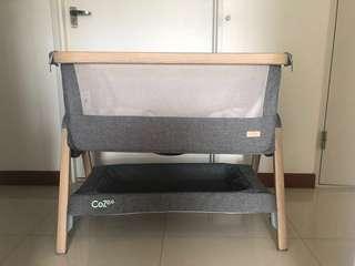 Tutti Bambini CoZee Bedside Crib (Oak & Charcoal)