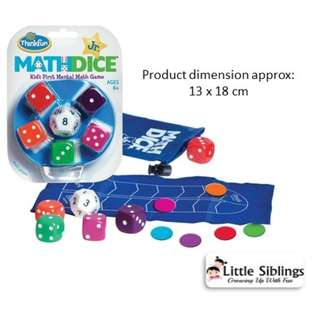 ThinkFun - Math Dice Jr - Math Games