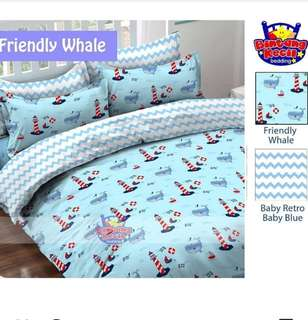 Sprei Bedcover Friendly whale