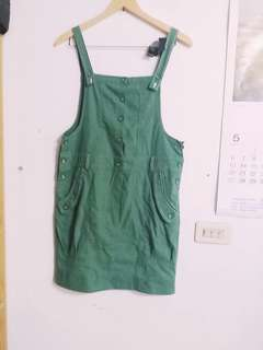 🚚 全新優惠👗草綠清新吊帶裙