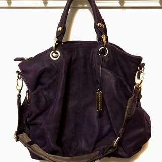 RABEANCO 二手牛皮深紫色手袋