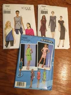Sewing fashion patterns