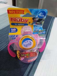 Nuby 1st sipeez cup. Pink.
