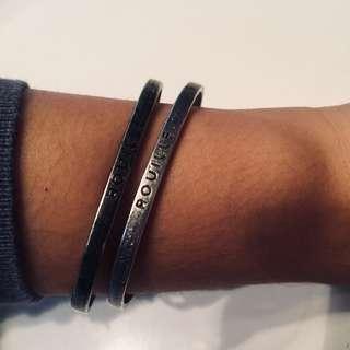 titanium vintage matching bangles