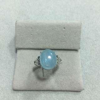 純銀海藍寶戒指