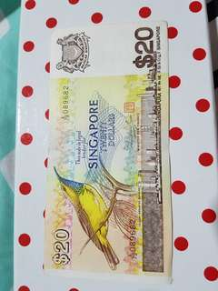Singapore old note  $20