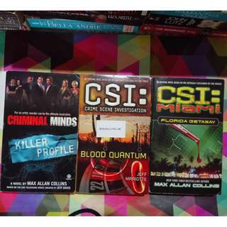 * Bundle of 3 * CSI and Criminal Minds