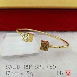 28k Saudi Gold- Bangle 4.15g