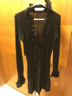 🈹️ Anne Fontaine Black Wool Cardigan $1200 from $2000