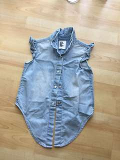H&M denim top (2-3yo) (worn once)