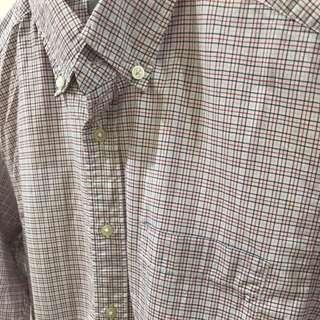 Uniqlo Checkered Long Sleeve Polo