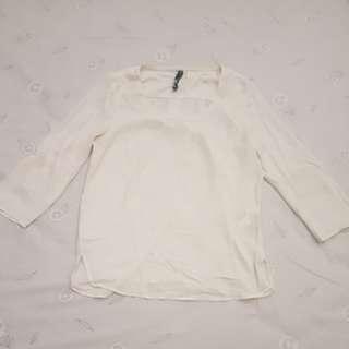 White shirt by stradivarius