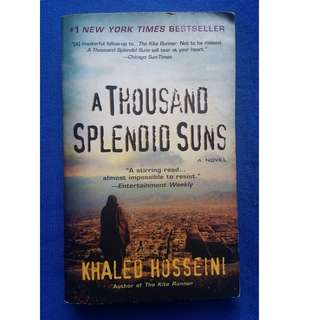 A Thousand Splendid Suns. Author: Khaled Husseini